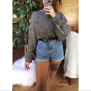 🌿 Vintage Speckled Rainbow Gray Cozy Knit Sweater